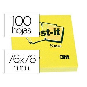BLOC DE NOTAS POST-IT 76X76MM CON 100 HOJAS