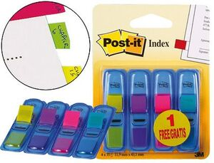 BANDERITAS SEÑALIZADORAS POST-IT 3+1 GRATIS CLIPSTRIP.