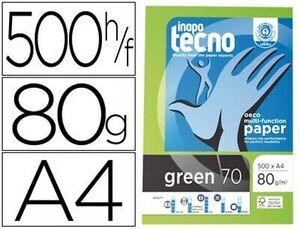 PAPEL FOTOCOPIADORA TECNOGREEN 100% RECICLADO A4 80 GRS PACK 500 UDS