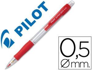 PORTAMINAS PILOT SUPERGRIP 0,5 MM SUJECION DE CAUCHO ROJO