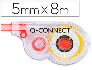 CORRECTOR Q-CONNECT CINTA BLANCO 5 MM  X 8 M  EN BLISTER