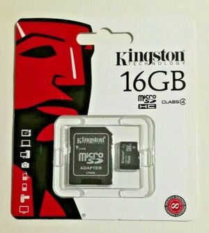 MEMORIA KINGSTON 16 GB MICRO SDHC CLASE 4