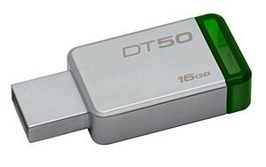 MEMORIA KINGSTON 16 GB USB 3.0 METAL/VERDE