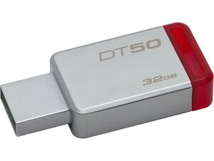 MEMORIA KINGSTON 32 GB USB 3.0 METAL/ROJO