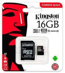 TARJETA DE MEMORIA KINGSTON 16 GB MICROS DHC SELECT ADAP