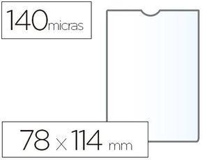CAJA 100 FUNDA PORTADOCUMENTO ESSELTE PLASTICO TRANSPARENTE 140 MICRAS TAMAÑO 78X114 MM.
