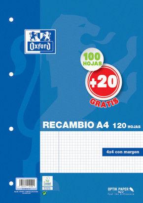 RECAMBIO A4 100+20H 90G 4X4/M 4T