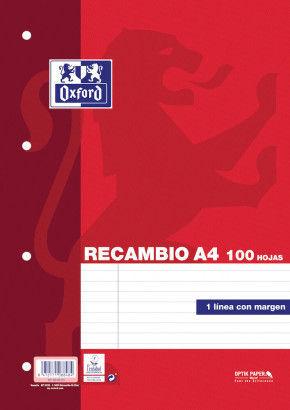 REC OXFSCHOOL A4 100H 90G HZTL8/M 4T