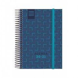 AGENDA ESPIRAL NOBEL E8 1DP 20-21 AZUL