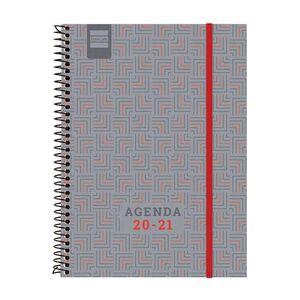 AGENDA ESPIRAL NOBEL E10 SV 20-21 VERMELL CAT