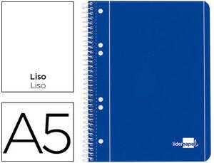 CUADERNO ESPIRAL A5 LISO LIDERPAPEL MICROPERFORADO 80GR