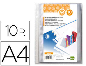 FUNDA LIDERPAPEL INTERCAMBIABLES A4 10 UNIDADES