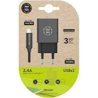 CARGADOR TECH ONE TECH 2.4 DOBLE USB+CABLE BRAID NYLON MICRO USB ANDROID