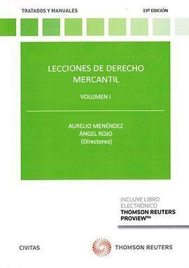 LECCIONES DE DERECHO MERCANTIL VOL. I