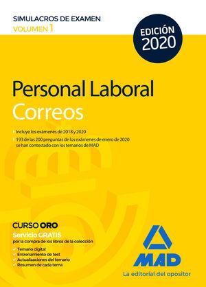 PERSONAL LABORAL DE CORREOS Y TELÉGRAFOS. SIMULACROS DE EXAMEN VOLUMEN 1