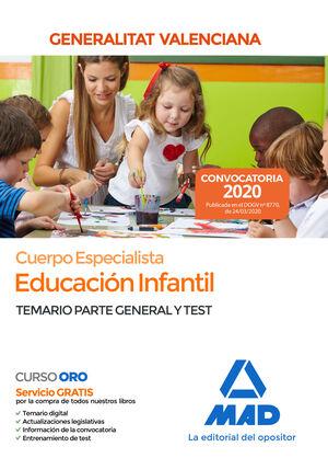 CUERPO ESPECIALISTA EN EDUCACIÓN INFANTIL DE LA ADMINISTRACIÓN DE LA GENERALITAT