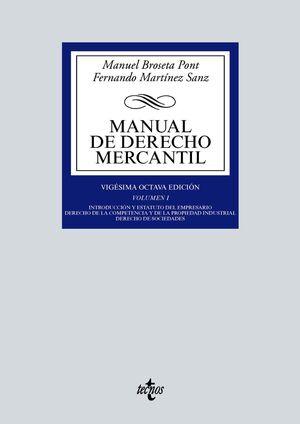 MANUAL DE DERECHO MERCANTIL VOL. I.