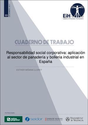 RESPONSABILIDAD SOCIAL CORPORATIVA: APLICACIÓN AL SECTOR DE PANADERÍA Y BOLLERÍA