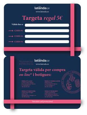 TARGETA REGAL ESCUT 5€