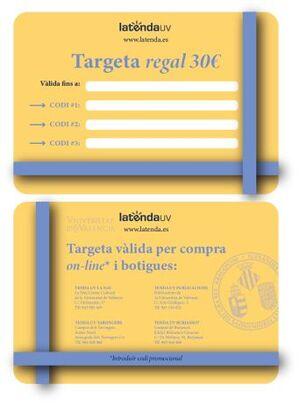 TARGETA REGAL ESCUT 30€