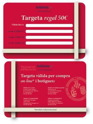 TARGETA REGAL ESCUT UV 50€