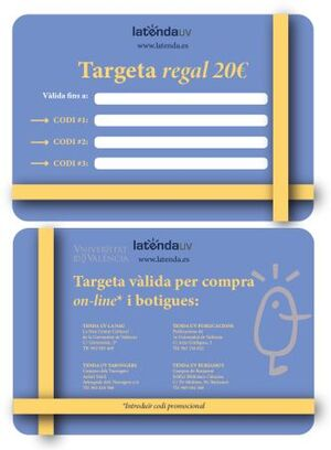 TARGETA REGAL XANO 20€