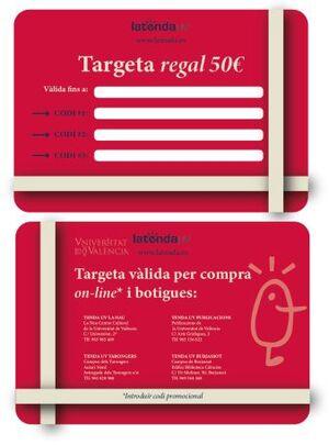 TARJETA REGALO XANO 50€